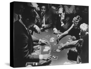 Entertainer Dean Martin Running His Own Game of Blackjack at a Casino by Allan Grant