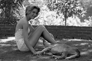 Kathy Jenkins, 17, with Her Dog, Kentfield, California, 1960 by Allan Grant
