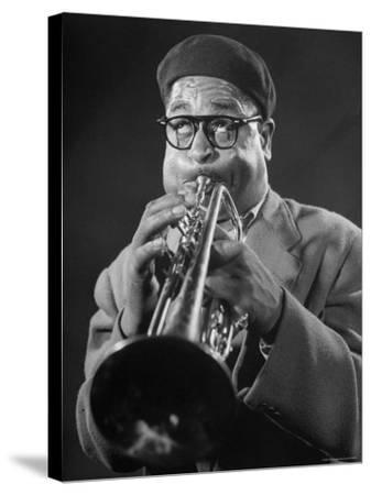 """King of Bebop Trumpeters Dizzy Gillespie Playing """"Cool"""" Jazz Tune During Jam Session"""