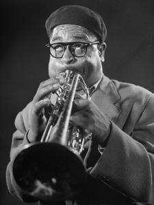 """King of Bebop Trumpeters Dizzy Gillespie Playing """"Cool"""" Jazz Tune During Jam Session by Allan Grant"""