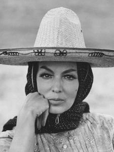 """Mexican Actress Maria Felix on Set New Picture """"Juana Gallo"""" by Allan Grant"""