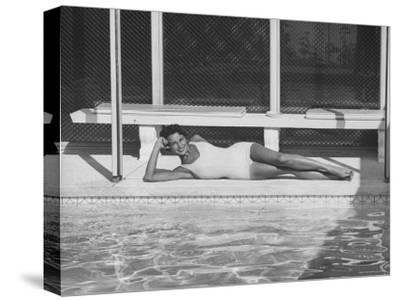 Model Posing Near a Pool