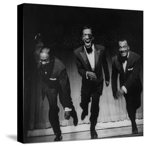 Performers, Sammy Davis Sr, Sammy Davis Jr, and Will Mastin, Together on Stage at Ciro's Dancing by Allan Grant