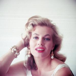 Portrait of Swedish-Born Actress Anita Ekberg with Ornate Bracelet and Earrings by Allan Grant