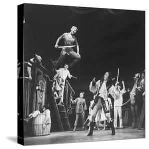 """Scenes from """"Peter Pan"""" Starring Mary Martin and Cyril Richard by Allan Grant"""