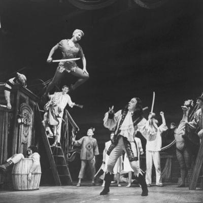 """Scenes from """"Peter Pan"""" Starring Mary Martin and Cyril Richard"""