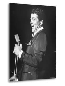 Singer Dean Martin Performing at the Sands Hotel by Allan Grant
