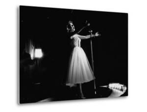 Singer Rosemary Clooney Performing on Stage by Allan Grant