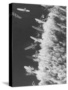 Surf Riders Surfing by Allan Grant