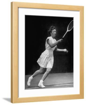 Tennis Player Maureen Connolly, Serving the Ball