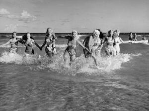 The Beachcomber Girls Who Work Night Clubs are Hanging Out at Beach in the Daytime by Allan Grant