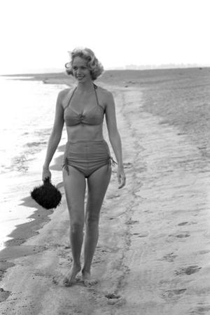 Unidentified Model in at a Beach, 1960