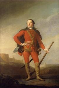 Portrait of Charles, 5th Earl of Elgin and 9th Earl of Kincardine, Standing Full Length in a… by Allan Ramsay