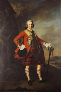 Portrait of John Campbell, 4th Earl of Loudon (1705-1782), Full-Length, in the Uniform of His… by Allan Ramsay