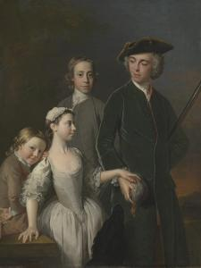 Thomas, 2nd Baron Mansel of Margam with His Blackwood Half-Brothers and Sister by Allan Ramsay