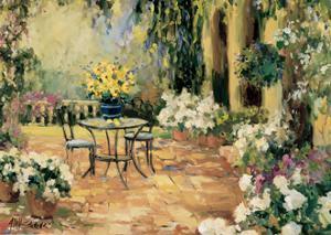 Floral Courtyard by Allayn Stevens