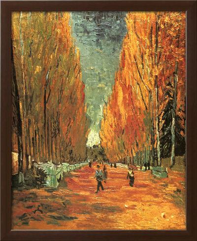 Allee des Alycamps-Vincent van Gogh-Framed Textured Art