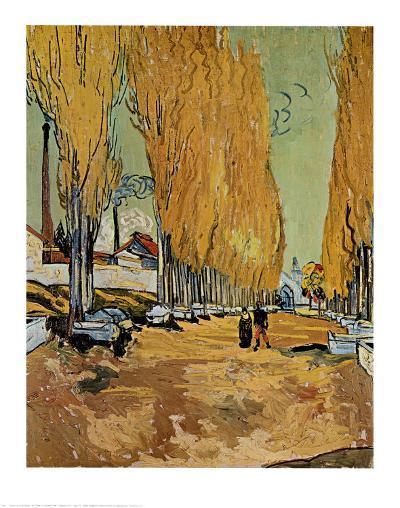 Allee des Alyscamps-Vincent van Gogh-Art Print