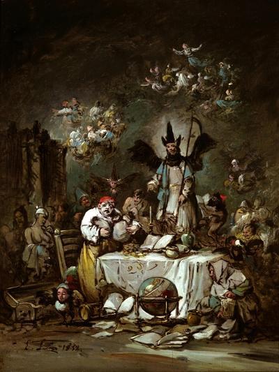 Allegorical Caprice. the Avarice, 1852-Eugenio Lucas Velázquez-Giclee Print