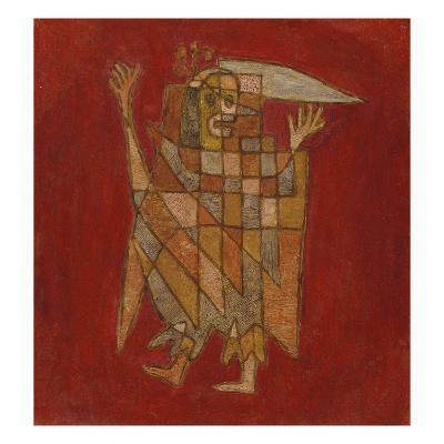 Allegorical Figure; Allegorische Figurine (Verblassung)-Paul Klee-Giclee Print