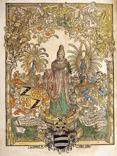Allegorical Figure of Mainz, 1486--Giclee Print