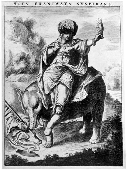 Allegorical View of Asia, Early 20th Century-Cornelis de Visscher-Giclee Print