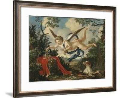 Allegories of Love - Cupid Gathering Flowers in a Landscape, 1803--Framed Giclee Print