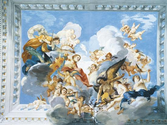 Allegories of the Marriage of Ferdinand II and Vittoria Colonna, 1635-Giovanni De' Fondulis-Giclee Print