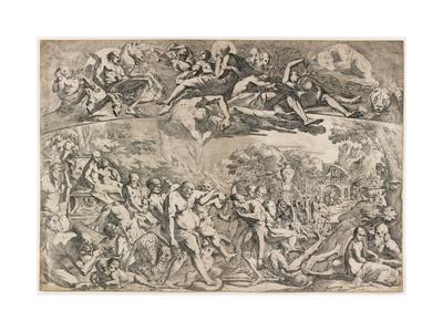 Allegory of Autumn, C. 1642-1644-Pietro Testa-Giclee Print
