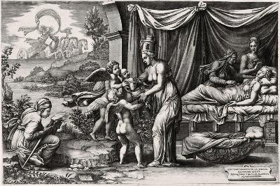 Allegory of Birth 1560, 1500 (1558)-Giorgio Ghisi-Giclee Print