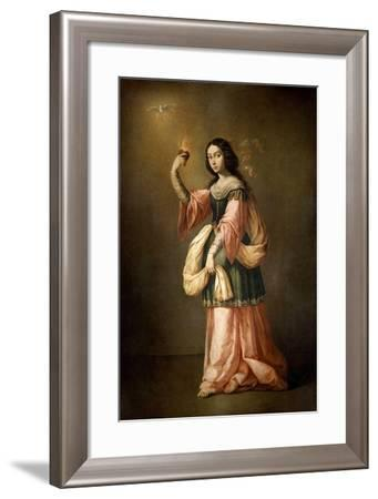 Allegory of Charity, ca. 1655-Francisco de Zurbarán-Framed Giclee Print