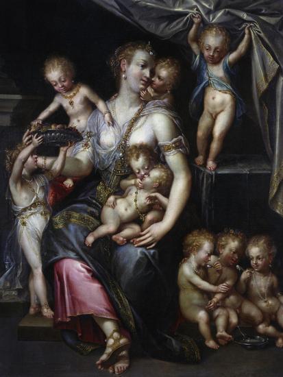 Allegory of Fertility and the Senses, 1593-Dirk De Quade Van Ravesteyn-Giclee Print