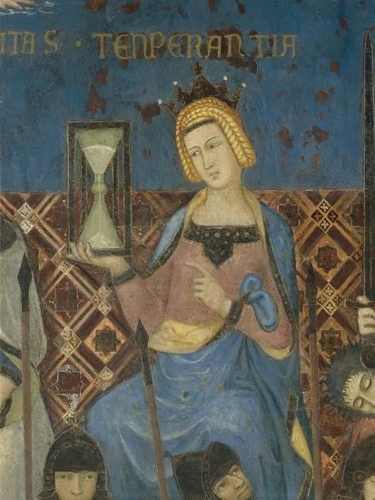 Allegory of Good Government, Temperance-Ambrogio Lorenzetti-Giclee Print