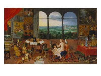 Allegory of Hearing. (Realised with Peter Paul Rubens), 1617-Jan Brueghel the Elder-Giclee Print