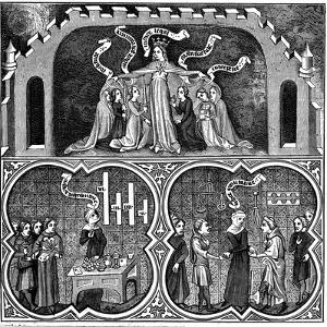 Allegory of Justice, from Aristotle's Ethics, 14th Century