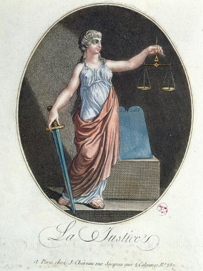 Allegory of Justice, Published by J. Chereau, Paris, 1792--Giclee Print