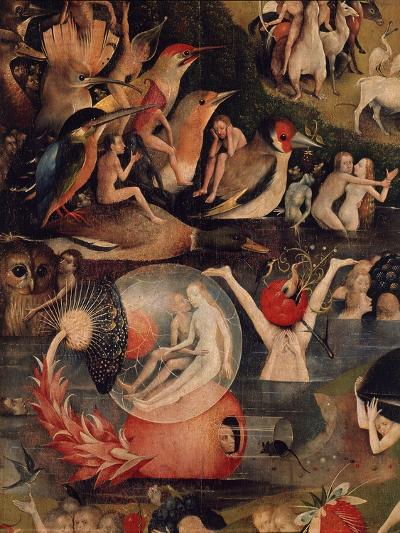 Allegory of Luxury, Central Panel of The Garden of Earthly Delights, c. 1503-04-Hieronymus Bosch-Giclee Print