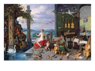 Allegory of Music-Jan Brueghel the Elder-Giclee Print