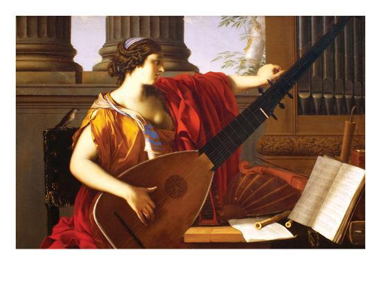 Allegory of Music-Laurent de La Hyre-Art Print