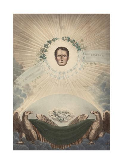 Allegory of Napoleon Surrounded by a Laurel Wreath and a Star- De Labarussias-Giclee Print
