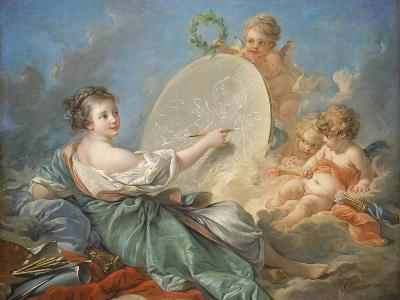 Allegory of Painting, 1765-Francois Boucher-Giclee Print