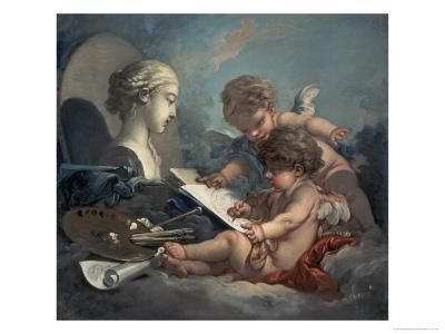 Allegory of Painting Amore-Francois Boucher-Giclee Print