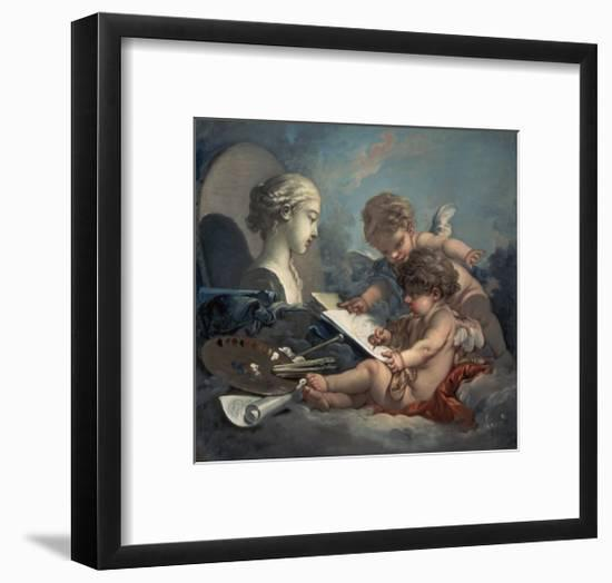 Allegory of Painting Amore-Francois Boucher-Framed Giclee Print