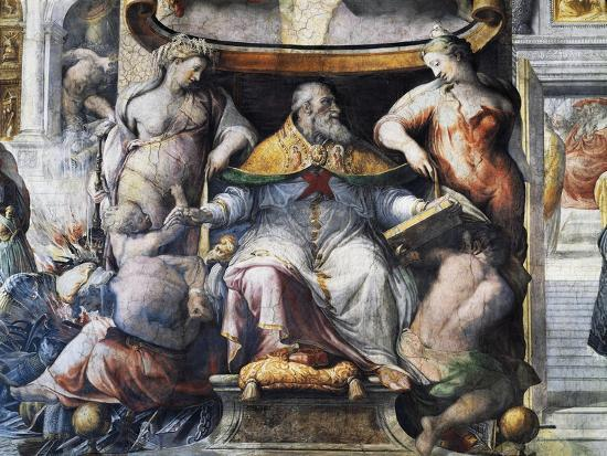 Allegory of Pope Paul III Farnese Between Peace and Fertility--Giclee Print
