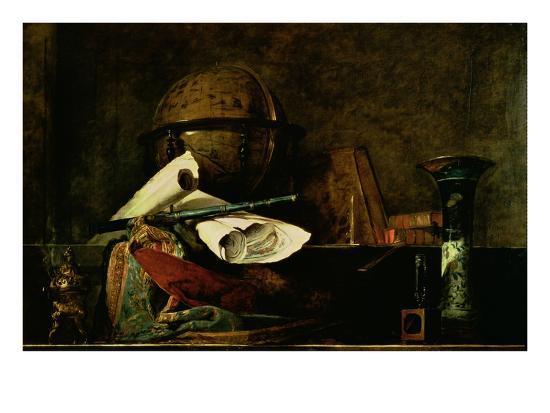 Allegory of Science-Jean-Baptiste Simeon Chardin-Giclee Print