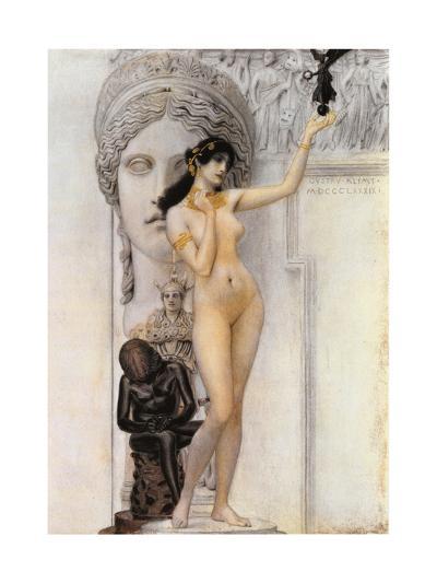 Allegory of Sculpture-Gustav Klimt-Giclee Print