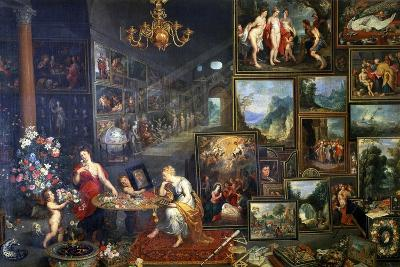 Allegory of Sight and Smell, C1590-1625-Jan Brueghel the Elder-Giclee Print