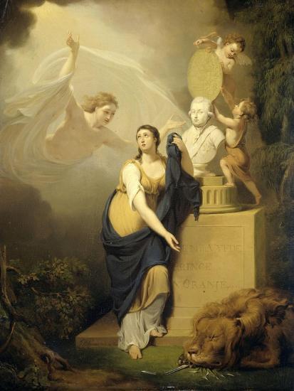 Allegory of the Death of Prince William V-Jan Willem Pieneman-Art Print