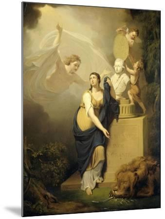 Allegory of the Death of Prince William V-Jan Willem Pieneman-Mounted Art Print