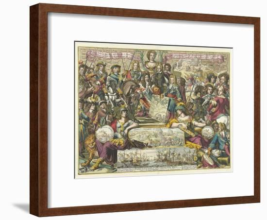 Allegory of the Victory of the Allies in 1704, 1704-1705-Romeyn De Hooghe-Framed Giclee Print